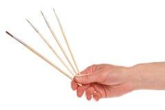 Muśnięcia w ręce artysta Zdjęcie Stock