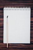 Muśnięcie dla malować i notatnika Fotografia Stock