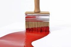 Muśnięcie i czerwona farba Obraz Stock