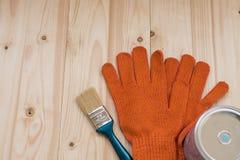 Muśnięcie, rękawiczki i farba, Obraz Royalty Free