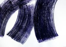 Muśnięcie rysuje trzy szerokiej uskrzydlającej linii taniec magiczny obraz royalty free