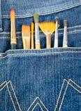 Muśnięcie w cajg kieszeni zdjęcie stock
