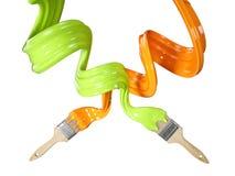 Muśnięcie z farba przepływu pluśnięciem 3D Rendeirng Zdjęcie Stock