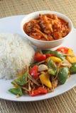 σύνολο μεσημεριανού γεύ&mu Στοκ Εικόνες
