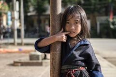 Mu Cang Cai, Vietnam -12 Sep 2014 - A hilltribe girl who lives i Royalty Free Stock Images