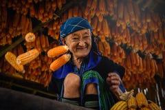 MU CANG CHAI, VIETNAM, 20 September, 2017: Niet gedefiniëerde Vietnamees Stock Foto