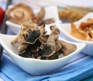 Mu-Err Mushrooms. Some dry asian mu-err mushrooms in a bowl Royalty Free Stock Images