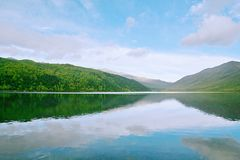 Wooden measure. Mu Ge (full name: Kangding love song Mu Ge scenic area), is located in the middle of the Gongga mountains, from Sichuan, Kangding, the Royalty Free Stock Image