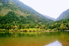 Wooden measure. Mu Ge (full name: Kangding love song Mu Ge scenic area), is located in the middle of the Gongga mountains, from Sichuan, Kangding, the royalty free stock images