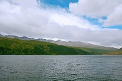 Wooden measure. Mu Ge (full name: Kangding love song Mu Ge scenic area), is located in the middle of the Gongga mountains, from Sichuan, Kangding, the royalty free stock photography
