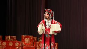 "Mu Guiying's statement- Beijing Opera"" Women Generals of Yang Family"" stock video"