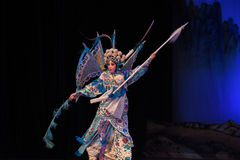 """Mu Guiying var heroiska generaler för en kvinnaPekingOpera"""" kvinnor av Yang Familyâ € royaltyfria foton"""