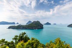 Mu Ko Ang皮带全国海岸公园 库存照片