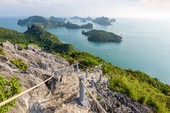 Mu Ko Ang paska Krajowy Morski park Zdjęcia Stock
