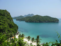 Mu Ko Ang Thong Marine National Park. Viewpoint from 50 meters high of Ko Wua Talab in Mu Ko Ang Thong Marine National Park, Samui Island, Suratthani, Thailand Royalty Free Stock Photography