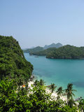Mu Ko Ang Thong Marine National Park. Viewpoint from 50 meters high of Ko Wua Talab in Mu Ko Ang Thong Marine National Park, Samui Island,Surathani, Thailand Royalty Free Stock Photos