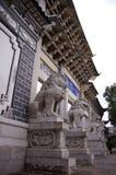 Mu Residence,China town - Lijiang .Chinese guardia Royalty Free Stock Images