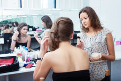 MUA at work Royalty Free Stock Photos