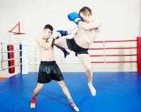 Muai thai fighting technique Royalty Free Stock Images