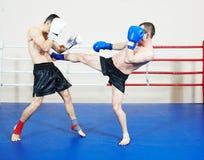 Muai thai fighting technique Royalty Free Stock Image
