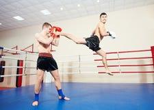 Muai thai fighting technique Stock Photography