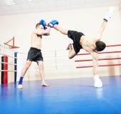 Muai thai fighting technique Stock Image