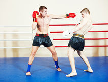 Muai thai fighting technique Stock Photo