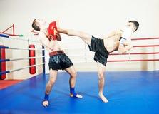 Muai thai fighting technique Royalty Free Stock Photography