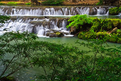 Muak Lek waterfall in Thailand Royalty Free Stock Photos