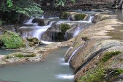 Muaklek vattenfall Saraburi Thailand Arkivbild