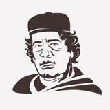 Muammar Gaddafi stylized vector portrait. Stock Images