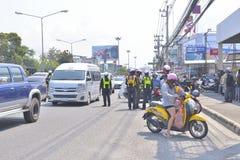 Muang区, Rayong,泰国的警察 免版税库存照片