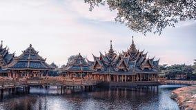 Muang Boran, alte Stadt in Thailand Lizenzfreies Stockfoto