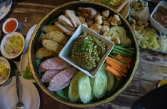 Muang locale del orderf di Chiangmai dell'alimento Fotografia Stock