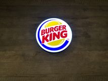 Muang Nakhonratchasima/Thailand - April 27, 2018: Burger King Royaltyfri Bild