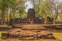 Muang Singha ancient rock castle at kanchanaburi Stock Photos