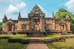 Muang Tum Castle Thailand. Muang Tum Castle , Khmer style temple in Buriram Thailand Stock Images