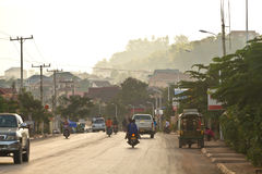 Muang Xay, calle de Laos fotos de archivo libres de regalías