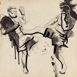 Muay, het kickboxing royalty-vrije illustratie