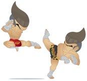 Muay het Thaise Vechten Vector Illustratie