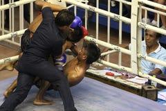 Muay Tajlandzka walka zdjęcie royalty free