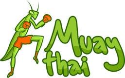 Muay tajlandzka wiadomość royalty ilustracja