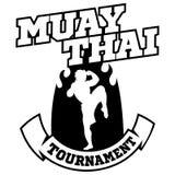 Muay Tajlandzki wektorowy logo dla bokserskiego gym lub inny Obraz Stock