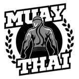 Muay Tajlandzki wektorowy logo dla bokserskiego gym lub inny Zdjęcie Stock