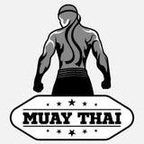Muay Tajlandzki wektorowy logo dla bokserskiego gym lub inny Zdjęcia Stock
