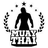 Muay Tajlandzki wektorowy logo dla bokserskiego gym lub inny Fotografia Stock