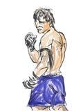 Muay Thai vector illustratie
