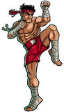 Muay Thai royalty-vrije illustratie