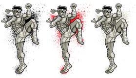 Muay Thai 2 stock illustratie