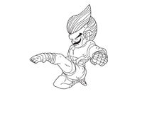 Muay Thai Boran : character cartoon 11 Royalty Free Stock Photos